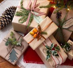 Super Easy DIY Christmas Decor Ideas - Artistic Parcels - Click Pic for 25 Christmas Craft Ideas