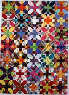 Exuberant Color: Happy Easter!..... X and + quilt top
