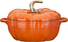 Staub® 3.5 qt. Pumpkin Covered Casserole  | Crate and Barrel