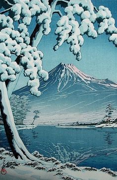 vasilyt: It will be snow Kawase Hasui (1883-1957)