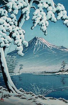 vasilyt: It will be snow Kawase Hasui (1883-1957)
