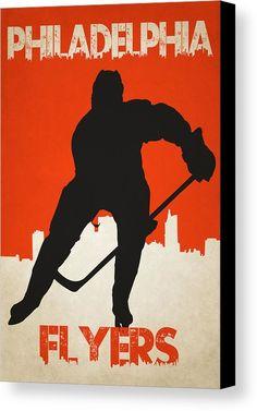 Flyers Canvas Print featuring the photograph Philadelphia Flyers by Joe Hamilton
