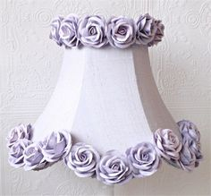 @rosenberryrooms is offering $20 OFF your purchase! Share the news and save!  Lavender Dupioni Silk Lamp Shade with Roses #rosenberryrooms