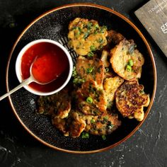"""Vegan vegetable drop fritters from the book """"Great Vegan Meals for the Carnivorous Family"""" by Amanda Logan of My Goodnees Kitchen. Cauliflower And Chickpea Curry, Carrot And Lentil Soup, Pesto Pasta Bake, Vegetarian Enchilada Casserole, Roasted Vegetable Pasta, Sweet Chilli Sauce, Quick Weeknight Dinners, Vegetarian Recipes"""