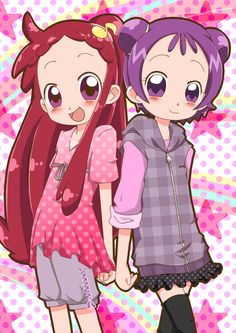 Tags: Anime, Ojamajo DoReMi, Harukaze Doremi, Segawa Onpu, Hair Buns, Alternate Hairstyle, Checkered