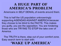 "the other half of Americans are screaming ""WAKE UP"" before it's too late. together we can make a difference!"