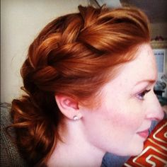 My braid for the morning. #redhair #braid