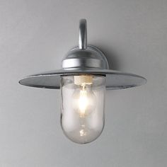 Nordlux Luxembourg Outdoor Wall Light with PIR Sensor, Galvanised Steel Online at johnlewis.com