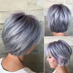 50 Gray Silver Hair Color Ideas in Silver hair trend hair color as well as attitude and these days not only for Gümüş seniors Gümüş. Silver trendy sexy nervous and super trend., Street Style Hair 50 Gray Silver Hair Color Ideas in 2019 Grey Hair Over 50, Short Grey Hair, Short Hair Cuts, Short Silver Hair, Colored Short Hair, Long Hair, Balayage Straight Hair, Hair Color Balayage, Ombre Hair