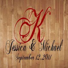 Custom Names Dacals Custom Wedding Dance Floor Vinyl Lettering Decal Party Art Decor