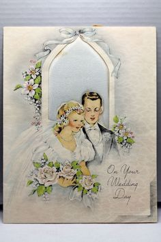 1940s Anniversary Greeting Card Vintage Or Rhenmatic Humor