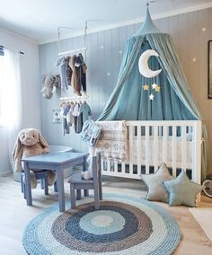 Baby Blue Nursery Bedroom Boy Rooms Nurseries Kids
