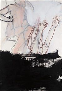 View Untitled by Rita Ackermann on artnet. Browse upcoming and past auction lots by Rita Ackermann. Figure Painting, Painting & Drawing, Ben Shahn, Famous Art, Arts Ed, Art Of Living, Pictures Images, Figurative Art, Contemporary Art