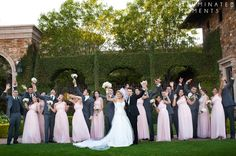© Illuminated Moments- Utah and Az wedding photographer. Light pink and silver wedding colors - wedding party