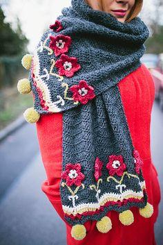 Ravelry: Anja Wrap pattern by Nicky Hale Knitted Shawls, Crochet Scarves, Crochet Shawl, Crochet Clothes, Crochet Stitches, Knit Crochet, Crochet Patterns, Wrap Pattern, Modern Crochet