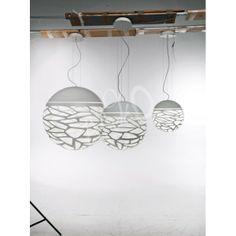 Suspension Studio Italia Design Kelly Sphere, Lampe de Table Ronde, Luminaire Sol Boule