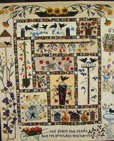 Primitive Garden BOM spotted at quilt show