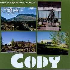 Cody Wyoming scrapbook pages