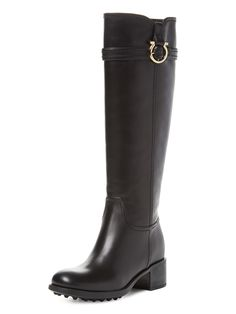 Salvatore Ferragamo Robespierre Leather Logo Buckle Boot. To look glamorous even when running all-day errands!
