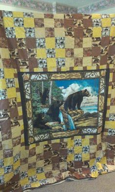 Bears in the woods king sized quilt