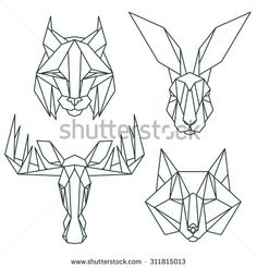 Find Animal Icons Vector Icon Set Abstract stock images in HD and millions of other royalty-free stock photos, illustrations and vectors in the Shutterstock collection. Geometric Origami, Geometric Drawing, Geometric Art, Geometric Animal, Icon Set, Abstract Animal Art, Doodle Drawing, Cardboard Sculpture, Polygon Art