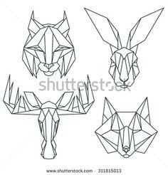 Geometrical Animal Stock Fényképek, képek és rajzok | Shutterstock