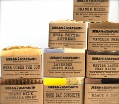 Your Choice of 9 Handcrafted Cold Process Soaps by UrbanSoapsmith