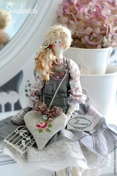 Купить Полина - тильда, интерьерная кукла, для декора, для уюта, кукла ручной работы