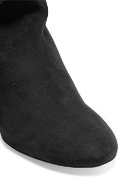 Heel measures approximately 70mm/ 2 inches Black washed-suede Zip fastening along side  Made in Italy