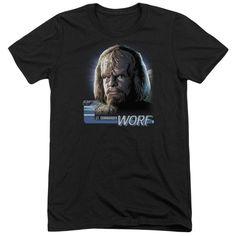 Star Trek Tng Worf Adult Tri-Blend T-Shirt