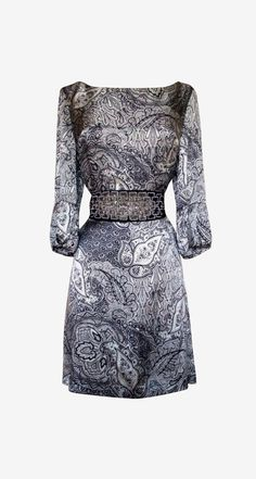 Joie Black And White Paisley Dress