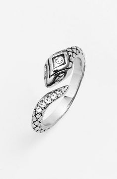 Ariella Collection Open Serpent Ring