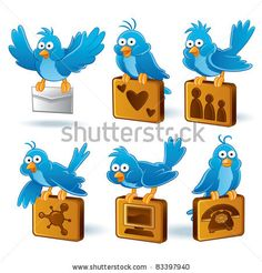 stock vector : Bluebird Cartoon illustration