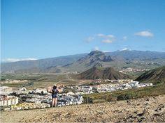 Above Los Cristianos - looking to Tenerife's mountainous interior.