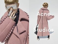 The current agender fashion fad is represented in this Acne Studios advertisement, a unisex children's clothing company. By dressing a boy up in women's clothing, Acne addresses our society's growing acceptance of gender-neutrality. Emily A