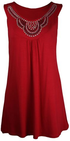 Diamond Scoop Sleeveless Casual Mid-length Plus Size Blouse