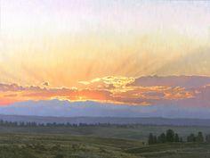 Sundown Behind Mount Evans - Colorado landscape | Jay Moore Studio | Jay Moore Studio