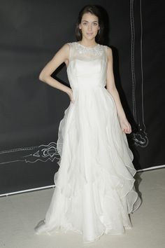Ivy and Aster - Bridal Fall 2013    TAGS:Ruffles, Floor-length, White, Ivy & Aster, Silk, Tulle, Romantic