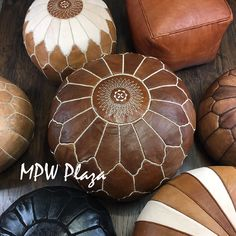 The most exclusive Poufs in the world are crafted by MPW Plaza®, luxurious, couture, unmatched sophistication, detailed by artisans in the USA. This is Not Your Average Pouf. Leather Pouf Ottoman, Moroccan Leather Pouf, Moroccan Pouf, Walmart Card, Marvel Tattoos, Square Pouf, Stone Crafts, French Country Style, Artisanal
