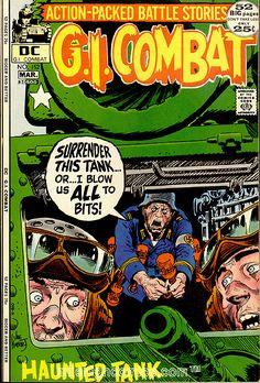 Dc Comic Books, Vintage Comic Books, Vintage Comics, Comic Book Covers, Comic Book Characters, Vintage Toys, The Rat Patrol, Joe Kubert, War Comics