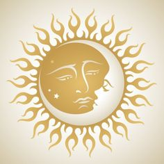 Sun And Moon Tattoo Graphic - Sun And Moon Tattoo Graphic -