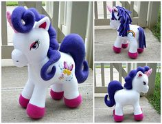 Huggable Unicorn, love the curly hair Horse Pattern, Sewing Basics, Felt Toys, Stuffed Animal Patterns, Photo Tutorial, Sewing For Kids, Handmade Toys, Craft Fairs, Sewing Projects