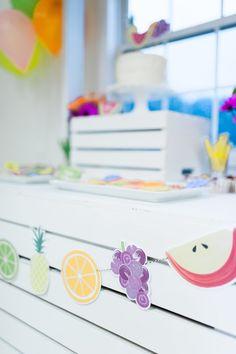 Fruit Banner from a Tutti Frutti Birthday Party via Kara's Party Ideas | KarasPartyIdeas.com (23)