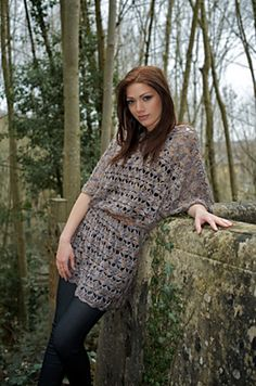 """Pewter Dress"" #crochet pattern by Shannon Mullett-Bowlsby, published in Inside Crochet, issue 17, May 2011. Sizes up to 58""/147 cm bustline."