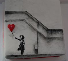 Girl with the Red Balloon by Cakes by Occasion, via Flickr