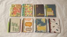 Mini composition notebooks