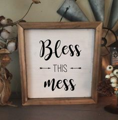 """Bless this mess """"Farmhouse collection"""" Free shipping $32 #Mess #Farmhouse #Collection #CraftRoom #Diy #Crafty #Craft"""