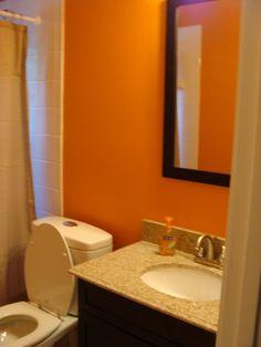 My New Orange Bathroom