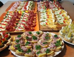 Sandwiches, snacks and canapés from my kitchen . Cold Appetizers, Appetizer Recipes, Austrian Recipes, European Cuisine, Czech Recipes, Ethnic Recipes, Party Finger Foods, Food Inspiration, Food To Make