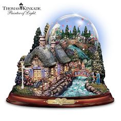 "Thomas Kinkade ""Love In Bloom"" Musical Water Globe: Love Is In The Air by The Bradford Exchange by The Bradford Exchange"